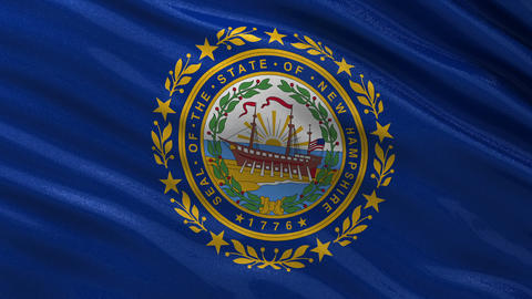 US state flag of New Hampshire seamless loop Animation