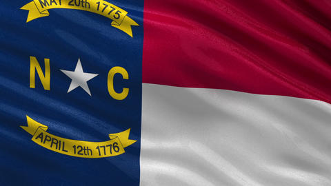 US state flag of North Carolina seamless loop Animation