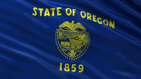 US state flag of Oregon seamless loop Animation