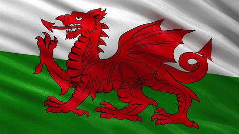 Flag of Wales seamless loop Animation