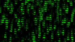 Binary Matrix Wall Green Background Animation