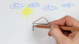 Child's Drawing - Time Lapse stock footage