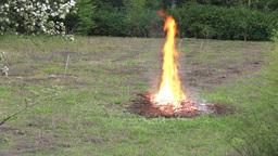 Huge unattended fire in the field Footage