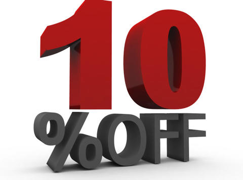 Ten Percent Off (10%off) Stock Video Footage
