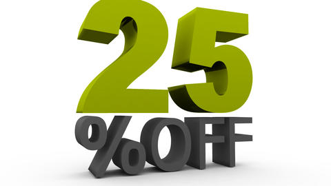 Twenty five Percent Off (25%off) Animation