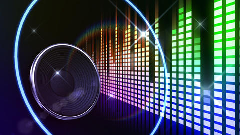 Speaker Equalizer P1MN3 Stock Video Footage