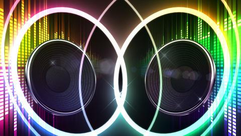 Speaker Equalizer P2MF2 Stock Video Footage