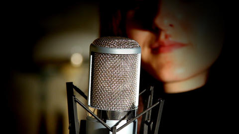 Microphone Stock Video Footage
