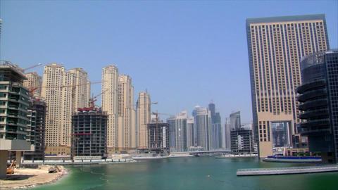 helicopter arrive dubai marina Footage