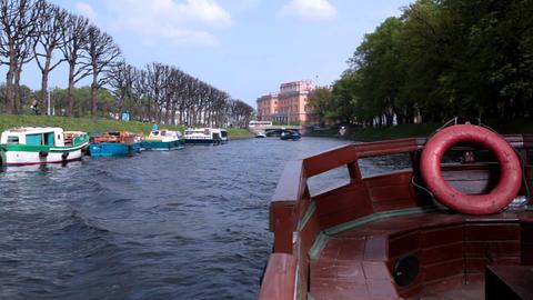 4315 SP Channel Boat01 HD Stock Video Footage