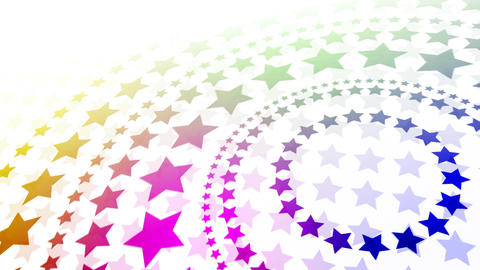 Rainbow Stars Background Stock Video Footage