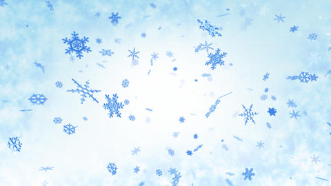 Snow Flake AM4 Stock Video Footage