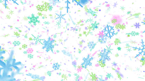 Snow Flake Amix4 Stock Video Footage