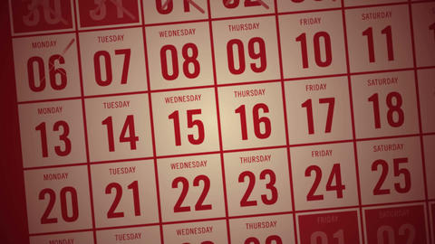 Calendar month showing days being crossed off Stock Video Footage