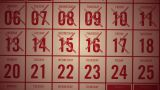 Calendar Month Showing Days Being Crossed Off stock footage