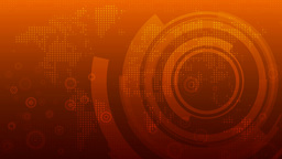 Global technology abstract background on orange Stock Video Footage