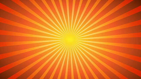 Hot Sunburst Background Stock Video Footage
