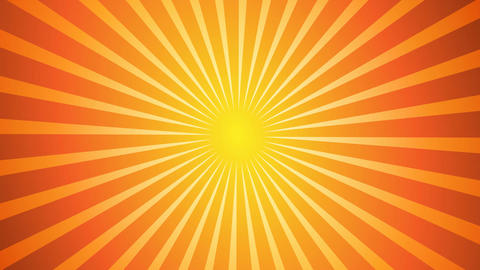 Hot Sunburst Background Animation