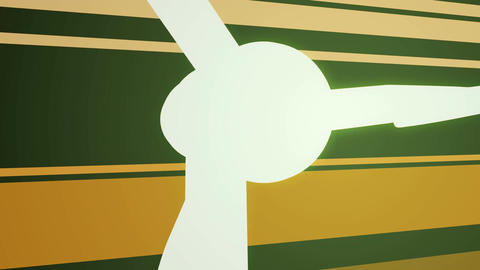Wind Turbines on Abstract Background Stock Video Footage