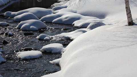 Snow and water Stock Video Footage