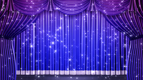 Stage Curtain 2 Fbk1 Stock Video Footage