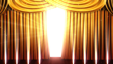 Stage Curtain 2 Fgs1 Stock Video Footage