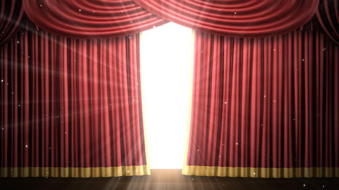 Stage Curtain 2 Fr3 Stock Video Footage