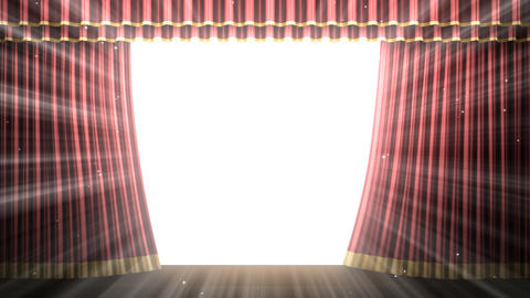 Stage Curtain 2 Frc2 Stock Video Footage