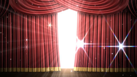 Stage Curtain 2 Fri1 Stock Video Footage
