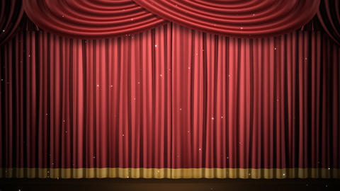 Stage Curtain 2 Fri3 HD Stock Video Footage