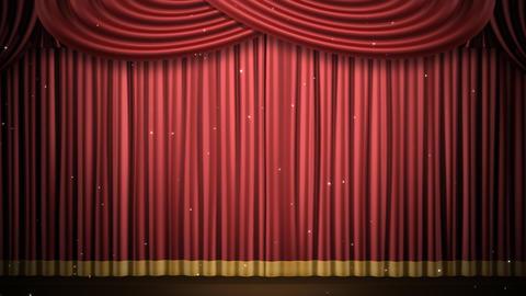 Stage Curtain 2 Fri3 HD Stock Video Footage