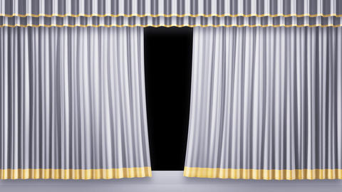Stage Curtain 2 Fw2 Stock Video Footage