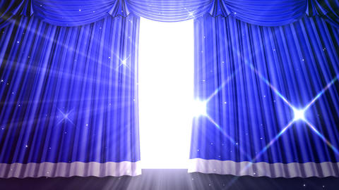 Stage Curtain 2 Ubf1 Stock Video Footage