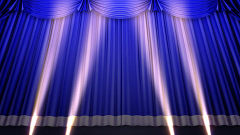 Stage Curtain 2 Ubs1 Stock Video Footage