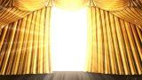 Stage Curtain 2 Ug2 Stock Video Footage