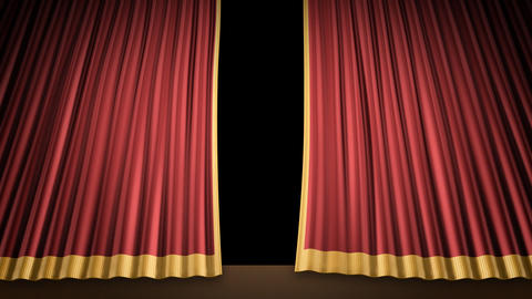 Stage Curtain 2 Ur1 Stock Video Footage