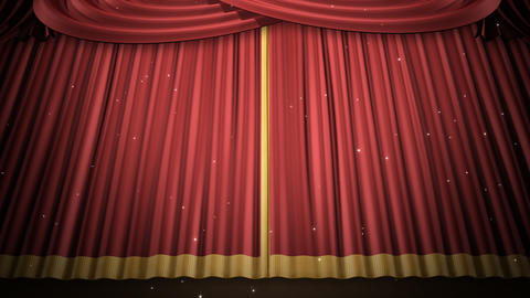 Stage Curtain 2 Ur3 Stock Video Footage