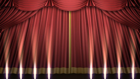 Stage Curtain 2 Urs2 Stock Video Footage