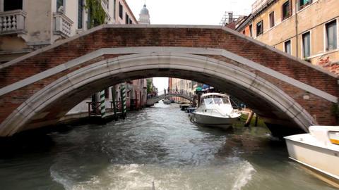 sail under bridge Stock Video Footage