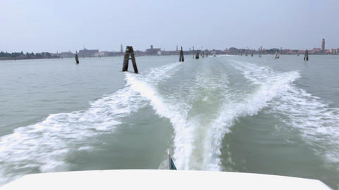 Back view from passenger vessel Stock Video Footage