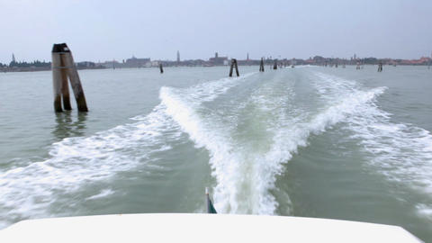 Back view from passenger vessel Live Action