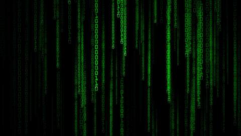 Matrix Binary Rain Stock Video Footage