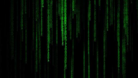 Matrix Binary Rain stock footage