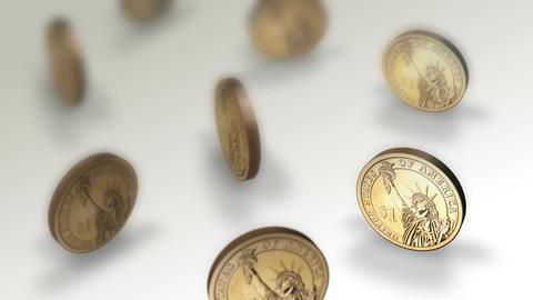 Spinning Dollar Loop Stock Video Footage