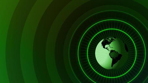 Revolving Globe Title Animation