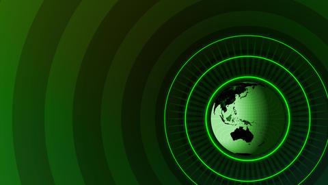 Revolving Globe Title Stock Video Footage
