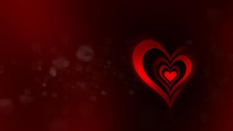Revolving Heart Shapes Loop Stock Video Footage