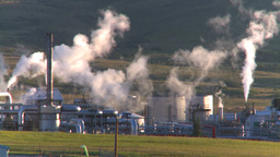 HD2008-8-1-30 gas plant Stock Video Footage