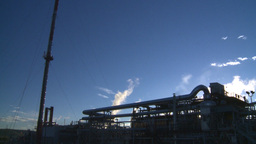 HD2008-8-1-44 gas flare and plant Stock Video Footage
