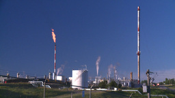HD2008 8 1 46 gas plant and flare Stock Video Footage